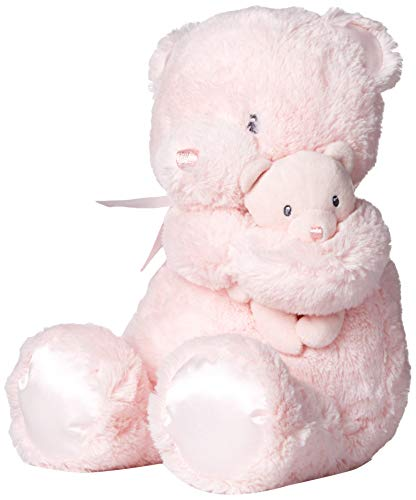 GUND Momma and Baby Teddy Bear Stuffed Animal Plush Rattle, Pink, 11