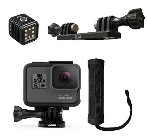 GoPro HERO6 Action Camera With Litra LitraTorch, Litra Double Mount, And Litra Handle by GoPro