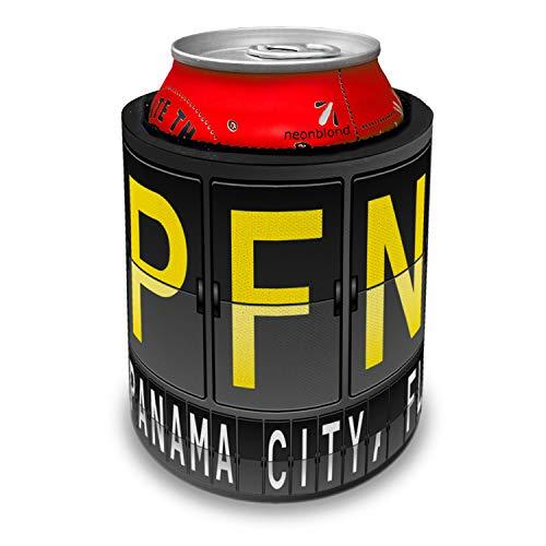 NEONBLOND PFN Airport Code for Panama City, FL Slap Can Cooler Insulator -
