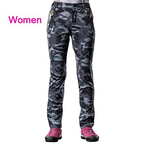 Camouflage Sport Donna Trekking Arrampicata Gray Stretch Impermeabili Qzhe Camping Women Pantaloni Outdoor Camo Uomo HPnAwB