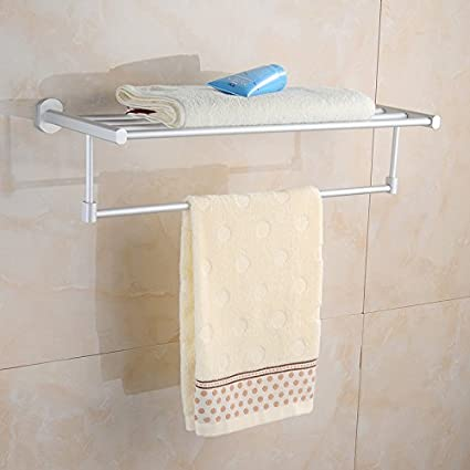 Soporte para barra de toalla de baño o cocina,organizar todo el estante con toallero