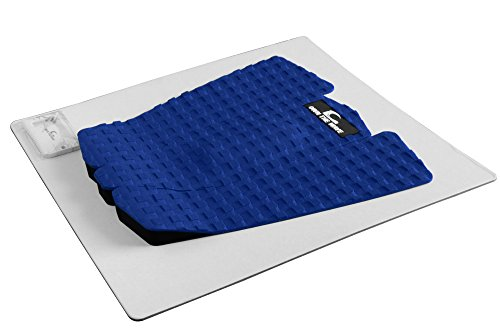 Own the Wave 3-Piece Grip Pad (EVA Foam - 3M Sticker) w/Wax Comb - Ocean Blue