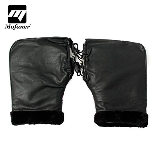 Value-5-Star - 1Pair Waterproof Motorcycle Bike Handle Bar Gloves Scooter ATV Hand Cover Gloves Muffs Winter Warmer