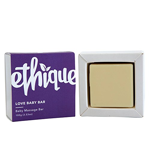 Ethique Eco-Friendly Baby Massage Bar, Love Baby Bar 3.53 oz by Ethique