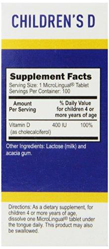 Superior Source Children's Vitamin D 400IU Tablets, 100 Count