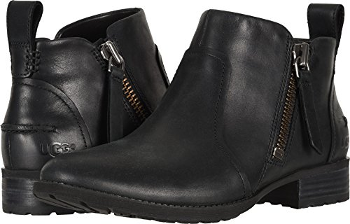 UGG Women's AUREO Ankle Boot, Black 1, 7.5 M US