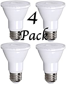PAR20 LED Bulb 75W Equivalent, Bioluz LED Spot Light Bulb, 3000K Soft White, E26, 40 Degree Beam Angle, UL Listed, 4 Pack