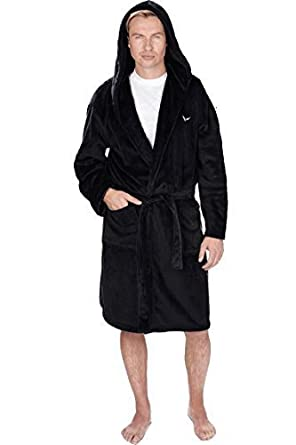 70fa4ef77a8 INSIGNIA Mens Hooded Snuggle Fleece Dressing Gown (XL