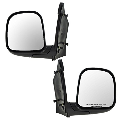Manual Side Mirrors Left & Right Pair Set LH RH for 96-02 GMC Chevy Van -