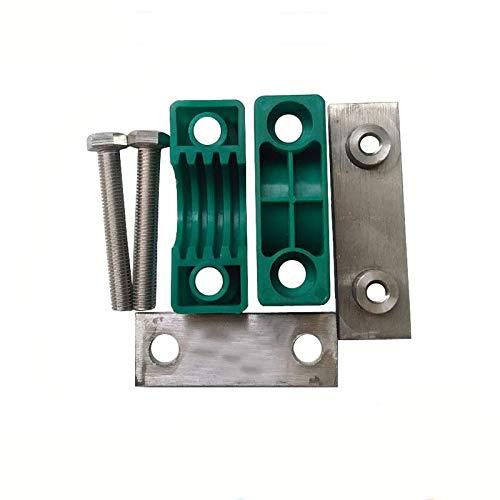 sistema m/étrico hidr/áulico de fijaci/ón para tuber/ías de gas y aceite, 2 unidades Powertool verde Abrazaderas de pl/ástico para tuber/ías de tuber/ía
