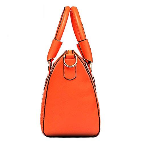 Handbags for Women Shoulder Tote Zipper Purse PU Leather Top-handle Ladies Bag