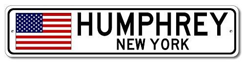 New Humphreys Corner - The Lizton Sign Shop Humphrey, New York Aluminum America Flag Sign, USA Custom Flag Sign - 9