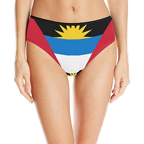 Antigua and Barbuda Flag Women's High Waist Briefs Underwear ()