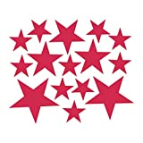 Cyhulu Creative Removable Window Wall Decal, New Fashion 110Pcs Star Mural Stickers Vinyl for Home Bedroom Living Room DIY Art Decoration, 4 Color Available (Hot Pink, One size)
