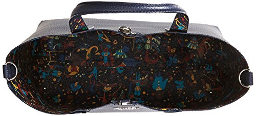 piero guidi 210463089, Borsa a Mano Donna, 30,5x27x14 cm Blu (Blu Notte)
