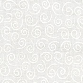 Moda Muslin Mates (Moda Whispers Muslin Mates Swirl White on White9920-11 Cotton Fabric)