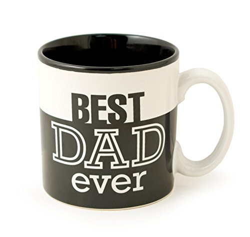 Best Dad Ever 13Oz Coffee Mug Great for Fathers Day or Birthday (Black)