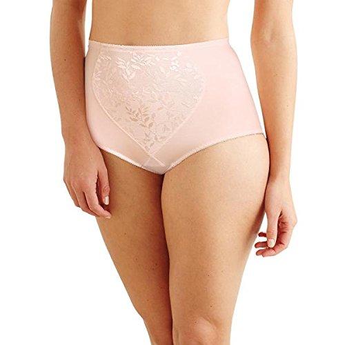 Bali Tummy Panel Firm Control Brief 2-Pack, 2XL, Jacquard Pink