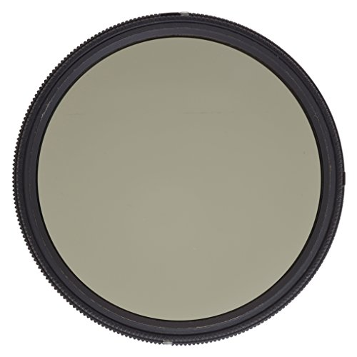 Heliopan 77mm Variable Gray Neutral Density Filter (707790) with specialty Schott glass in floating brass ring by Heliopan