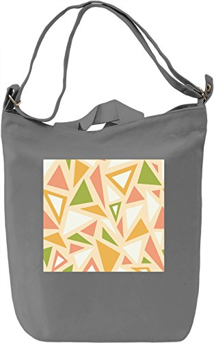 Triangles Pattern Borsa Giornaliera Canvas Canvas Day Bag| 100% Premium Cotton Canvas| DTG Printing|