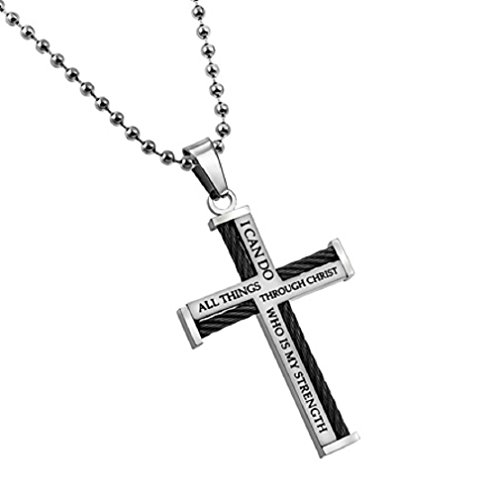 Front Cross Necklace - 4