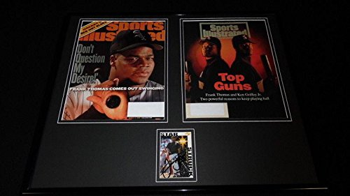 (Frank Thomas Autographed Photo - Framed 16x20 Sports Illustrated Cover Display - JSA Certified - Autographed MLB Photos)