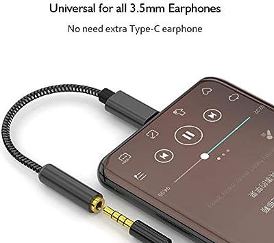 Samsung S8//S9 KRIPT 32bit 384KHz USB Type C to 3.5 mm Headphones Aux Audio Jack Adapter Cable Converter with Realtek ALC4042 DAC Chip for iPad Pro,MacBook Pro Google Pixel 3,Huawei,HTC. Black