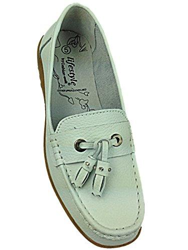 Foster Footwear - Ballet mujer blanco