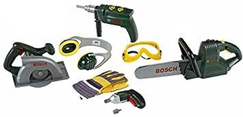 Theo Klein-8512 Bosch Set Grande Para Obreros De Construcción, Juguete, Multicolor (8512)