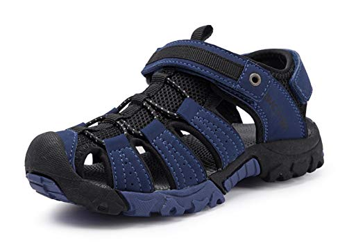 BMCiTYBM Girls Boys Hiking Sport Sandals Toddler Kid Closed Toe Water Shoes Navy Size 9