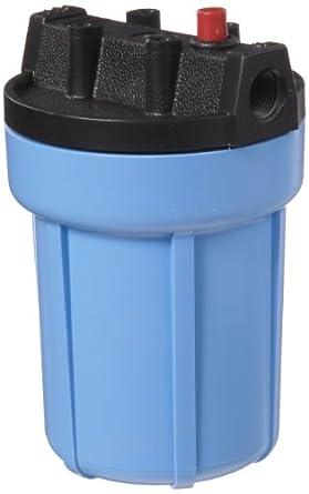 "Pentek 158002 3/8"" #5 Slim Line Blue Filter Housing with Pressure Relief"