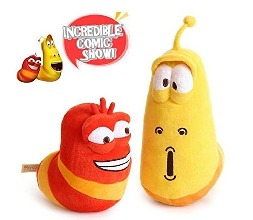 Candice Guo! 15-20cm,2pcs/lot Selling Item Fun Insect Slug Creative Larva Plush Toys