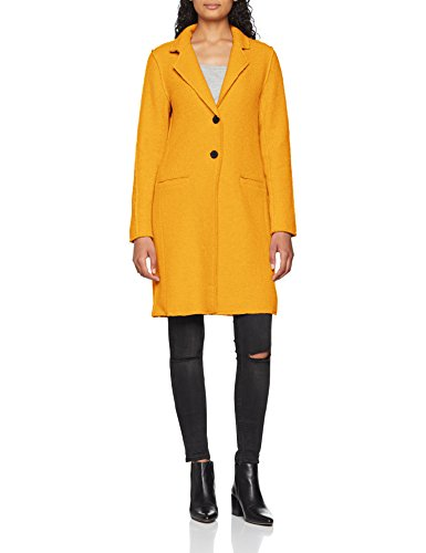 Wool Only Jaune Yellow Melange OTW Golden CC Onlvikki Detail Manteau Femme Coat a5wf1