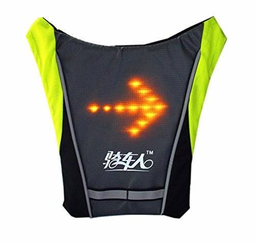 Ltd Turn Signal (BIKEMAN LED Wireless Turn Signal Light Vest Guiding Light Reflective Luminous Safety Warning Direction with remote for Night Cycling Running Walking Hiking Business Travel School Bag (Grey))