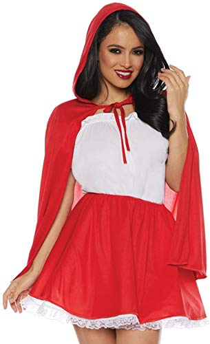Underwraps Women's Little Red Riding Hood Skirt and Cape Costume Set, Large