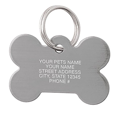 Stainless Steel Bone Shape Pet Tag, Personalized Pet ID, Dog Tags and Cat Tags