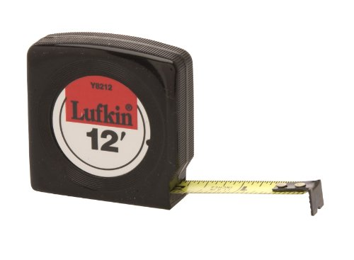 Lufkin Tape Measure Mezurall - Lufkin Y8212 1/2-Inch by 12-Foot Mezurall Economy Power Return Tape, Black