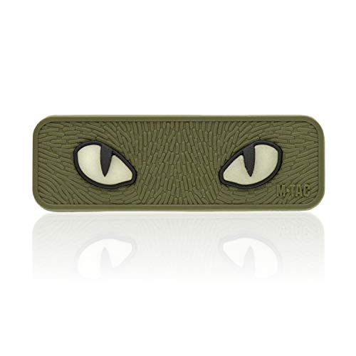 M-Tac Cat Eyes Morale Patch - Tactical Patch - Hook Fasteners (Olive)