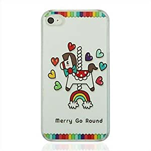 SOL Merry Go Round Leather Vein Pattern PC Hard Case for iPhone 4/4S