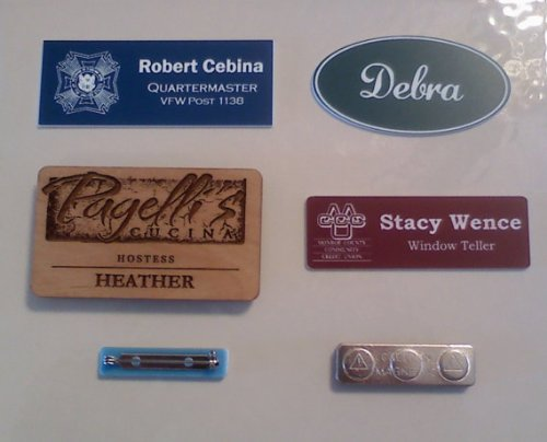 Custom Personalized Engraved Name Badges - Name Tags - MADE TO ORDER -