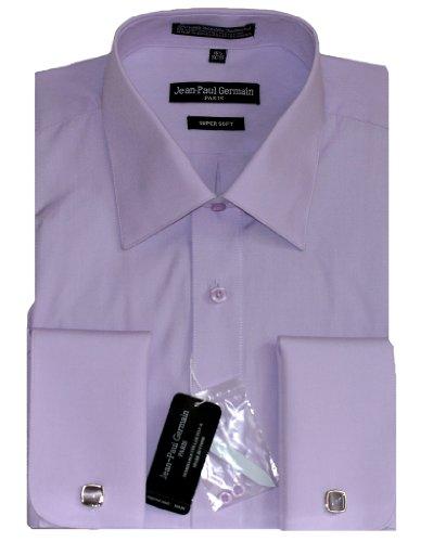 Lavender french cuff dress shirt cufflinks included for Purple french cuff dress shirt