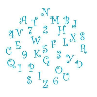 FMM Funky Alphabet & Number Tappit Cutters ()