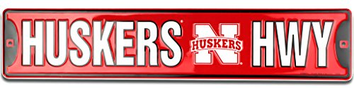 Hwy Street Sign - Nebraska Huskers HWY Street Sign