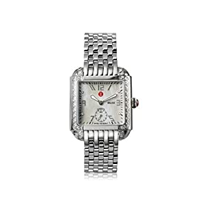 Michele Women's MWW15A000001 Milou Silver/Mother of Pearl Watch