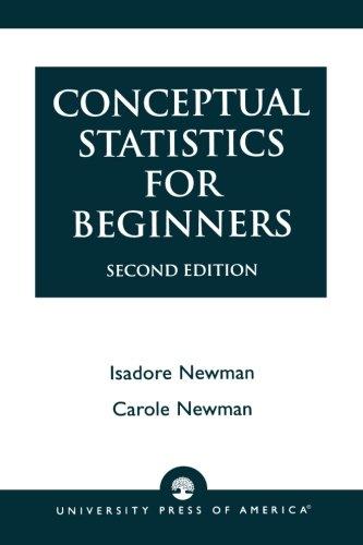 Conceptual Statistics for Beginners