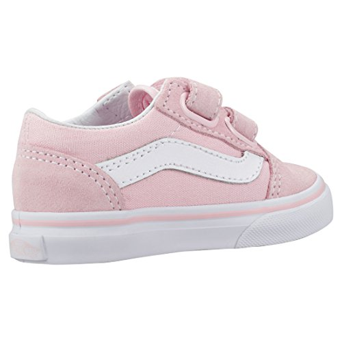 Vans White Bébé Mixte Pink Baskets Skool Old V 77qzBf