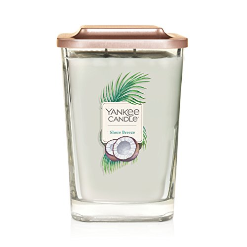 Yankee Candle Company Elevation Collection with Platform Lid, Large 2-Wick Square Candle   Shore Breeze from Yankee Candle