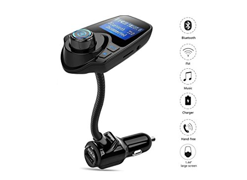 Actpe Wireless Bluetooth Car MP3 Player Radio FM Transmitter with Charger Adapter & 3.5mm Aux Line-in Jack Support USB SD Card for iPhone 7 6S Plus 5S iPod Samsung LG Nexus Android Cell Phone/ Tablet (Turning Pro Led)