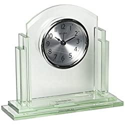 Bulova Statement Office Clock, Silver