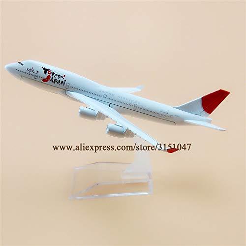 ZAMTAC Alloy Metal Air JAL YOKOSO Japan B747 Airlines Airplane Model YOKOSO Boeing 747 Airways Plane Model Aircraft Kids Gifts 16cm